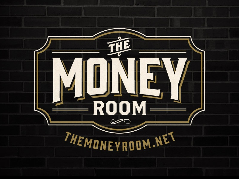 The Money Room - Logo prohibition logo branding vintage design the money room speakeasy