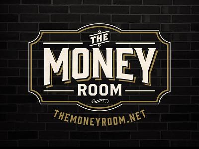 The Money Room - Logo prohibition logo branding vintage design the money room speakeasy