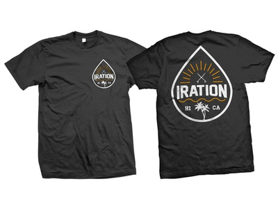 Iration - Shirt Design california shirt t-shirt reggae rock surfboards apparel logo surfing surf hawaii reggae iration