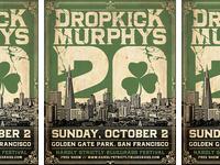Dropkick Murphys - 20th Anniversary, San Francisco Poster