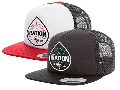 Iration - Hat surf logo hawaii reggae surfing beach iration hat apparel