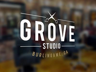 Grove Studio - Logo vintage burlingame hair identity salon branding logo