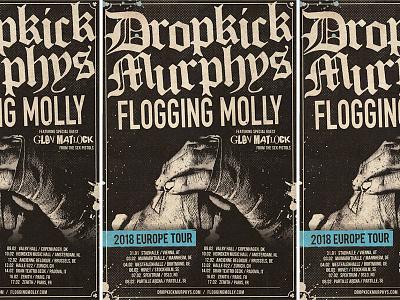 Dropkick Murphys - Tour Poster tour poster admat tour molly flogging boxing poster celtic punk murphys dropkick