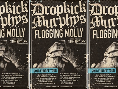 Dropkick Murphys - Tour Poster tour molly flogging boxing poster celtic punk murphys dropkick