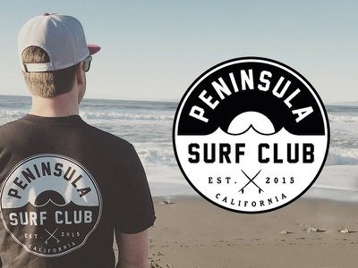 Peninsula Surf Club - Logo waves surfing surf san mateo san francisco peninsula surf club pacifica half moon bay california beach