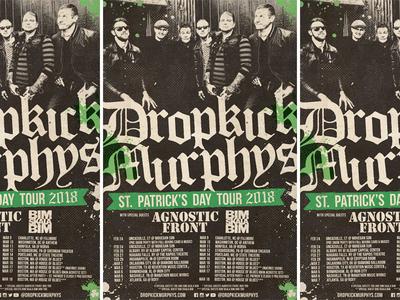 Dropkick Murphys - St. Patrick's Day Tour 2018 tour poster band music poster rock punk rock st. patricks day dropkick murphys