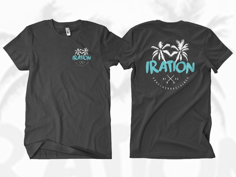 Iration Shirt surfing surfboards surf shirt reggae rock reggae logo iration hawaii california apparel clothing