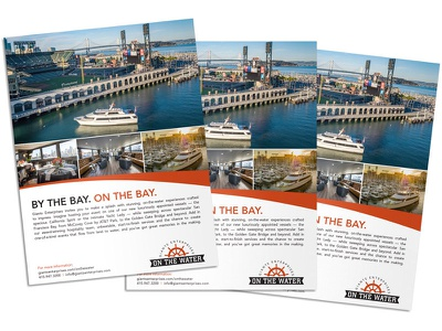 Giants Enterprises - On The Water magazing ad ad san francisco bay bay san francisco cruise boat yacht enterprises giants