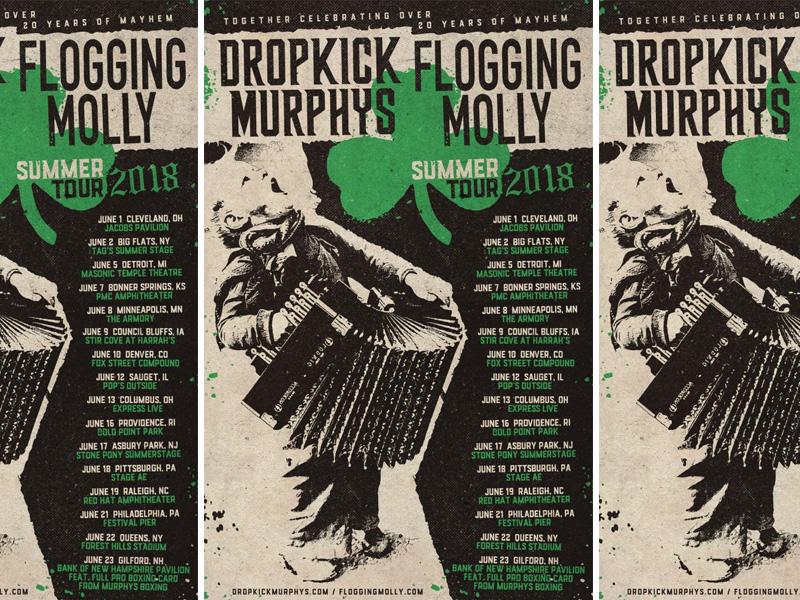 Dropkick Murphys & Flogging Molly Summer Tour 2018 tour admat admat punk flogging molly molly flogging dropkick murphys murphys dropkick