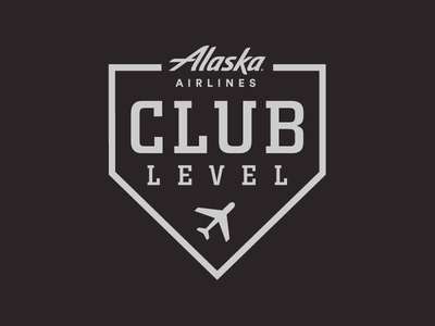 Alaska Airlines Club Level – AT&T Park alaska airlines club level mlb giants san francisco san francisco giants identity baseball logo branding