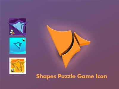 Shapes Puzzle Game Icon photoshop game logo icon game ui