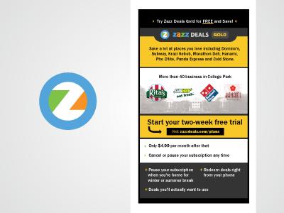 Zazz deals email promotion