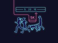 Glow Dog Glow 5K Facebook Ad