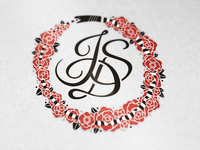 Ouroboros Rose Wreath Monogram Update