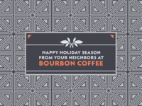 Bourbon Coffee Holiday Postcard