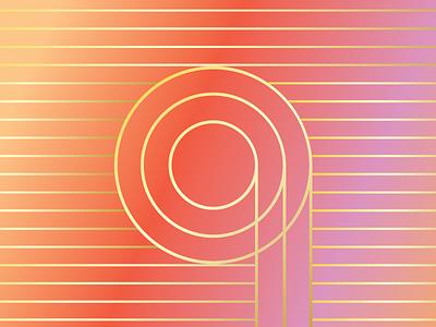 RML Branding linear sunset gradient branding logo