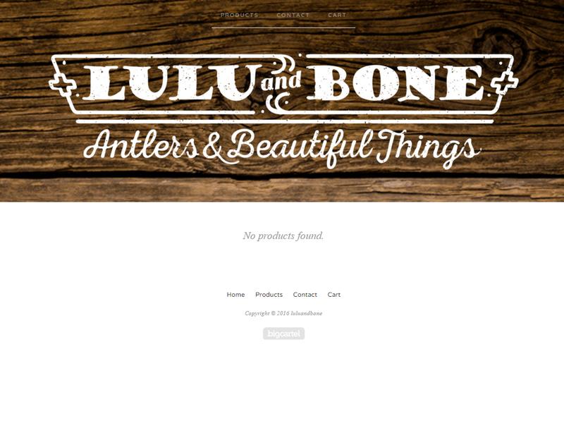 Lulu and Bone Logo branding online store big cartel vintage craft logo