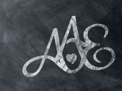 AAE Monogram initials wedding monogram