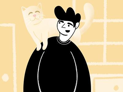 Stay Home home draw covid19 covid coronavirus stayhome cat illustration