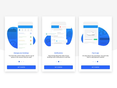Walkthrough - Booking App ux ui illustration sketch walkthrough app