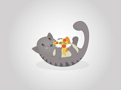 Pizza Cat illustration cat pizza