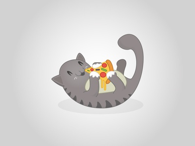 Pizza Cat illustration cat pizza