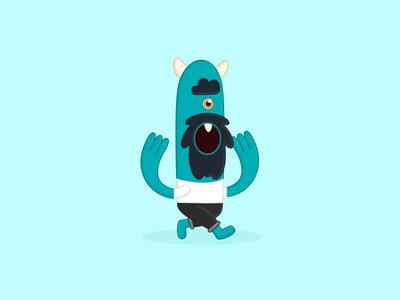 Hipster Monster hipster beard blue illustration monster