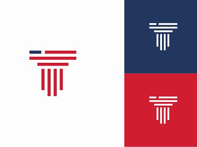 Amerika law branding minimal logo design law firm usa column lawyers lawyer llc firm law