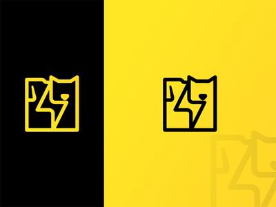 Quick Pet Logo negative space lineart design logo creative minimal logo design pets pet care pet logo cat logo dog cat animal pet