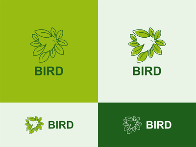ECO Bird branding akdesain logo minimal creative illustration logo design negative space green leaf eco bird