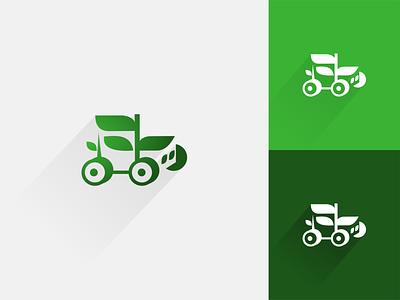 Farm truck logo logo branding creative logo design minimal negative space agriculture trucking car trucks green farm leaf eco truck