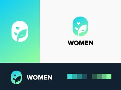 eco women logo branding minimal creative logo design negative space ecology ecommerce app ecommerce design plant power women girl green leaf eco