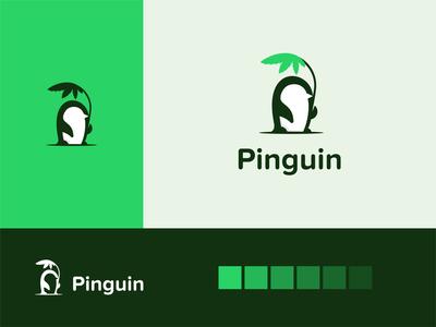 Pinguin cannabis logo design creative illustration branding logo design minimal negative space cannabis logo hemp logo hemmp canna cannabis pinguin