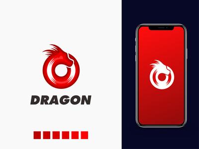 Dragon logo logo minimal creative logo design negative space productions music player dragon logo dragon records record vinly production music
