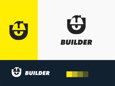 Builder logo branding logo logo design minimal negative space work real estate maintenance repair construction builder font letter