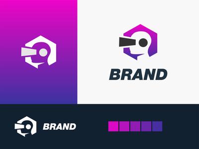 On Vr logo akdesain branding minimal logo design negative space online virtualreality virtual reality people human logo vr power on
