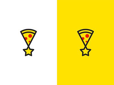 pizza star logo akdesain clean creative design logo design minimal negative space pizza logo pizza logo