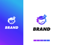 baroon logo akdesain logo branding logo design minimal negative space sky fly people head baroon