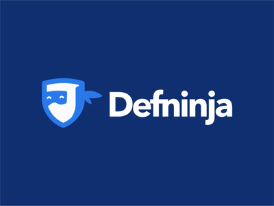 Defninja logo negative space logo design ninja ninja logo akdesain protector defenders screen glass glass protect protected security defender