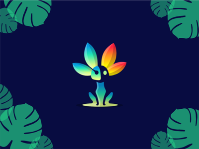 Nvidia Mascout vector creative negative space illustration animal logo mascout nvidia tropicalakdesain tropical creature animal