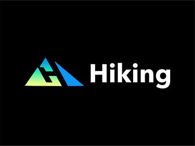 Hiking logo logo design minimal negative space akdesain hand lettering h hiking app hiking t shirt mountains mountain logo hiking logo mountain hiking