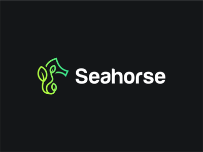 Seahorse branding logo design minimal negative space service akdesain horse logo eco logo eco green plant animal sea logo sea seahorse seahorse logo