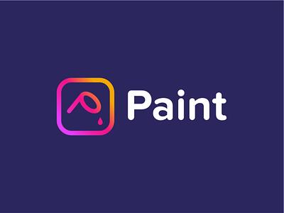 paint logo branding illustration negative space logo design creative painted painting paint logo ink square akdesain simple tag line minimal paint