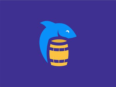 fish barrel clean negative space logo design branding illustration creative minimal akdesain barrels barrel fishing rod fishing fish fish logo
