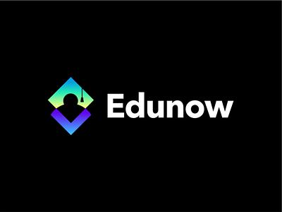 edu now creative branding logo design minimal negative space education logo education app educational school square akdesain course learn education edu