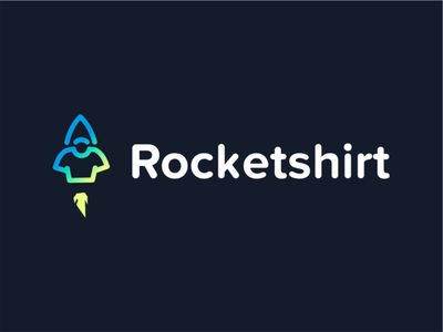 rocket shirt branding creative typography negative space logo design design fast akdesain launch rocket tshirts rocekt logo tshirtdesign tshirt art tshirt