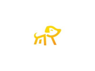 Dog logo branding illustration creative logo design minimal negative space doggy care pet dog logo animal dog