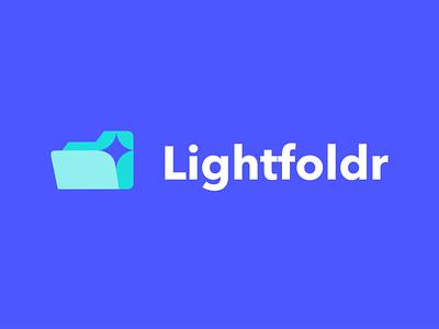 light foldr minimal lettering logo design creative negative space akdesain illustration organizer management app management folder lights lighting light