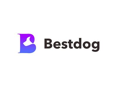 Letter B dog logo creative illustration branding logo design akdesain negative space letter mark monogram pet animal dog letter mark b letter b
