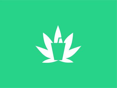Canna juice creative branding vector logo design minimal design negative space cannabis design juices juice logo cannabis cannabis logo canna